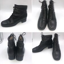 ⭐️Gabor Brown Leather Size 5 38 Victorian Lace Up Ankle Boots Cosplay Womens