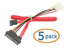 "SATA Internal Power & Data Combo Cable - 12"" (30cm) - MC12DP (Lot of 5)"