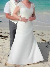 WEDDING DRESS SIZE 14 IVORY MINT CONDITION