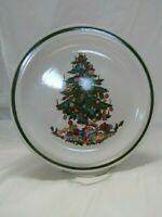 International China NOEL CHRISTMAS TREE Dinner Plate Japan #SY-6243 Lot of 4