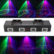 530mW Red Green Blue 4 Lens DMX512 Laser Stage Lighting XMAS Party Light 9CH