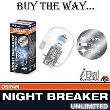 OSRAM LAMPADINE 64151NBU H3 12V 55W ATT. PK22s NIGHT BREAKER UNLIMITED 1 LAMPADA