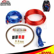 AWG 8 Verstärker 10mm² Endstufen-Subwoofer-Set Kabel Kit PKW Car-Hifi Chinch 5M
