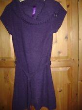 E-vie 14-16 cap sleeved dress/long top Grape coloured.
