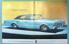 Original 1966 Oldsmobile Cutlass Supreme Ad STEP OUT IN FRONT IN '66 ACTION OLDS