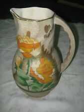 Old 1930's Beverley Pattern Hand Painted Charlotte Rhead Style Pitcher Jug