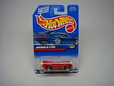 HOT WHEELS--JAGUAR D TYPE-COLLECTOR #997-RED---NEW ON CARD-