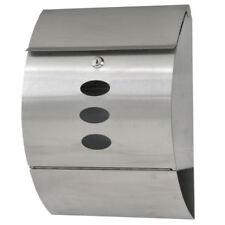 Stainless Steel Wall Mount Mail Box w/ Retrieval Door Newspaper Roll Envelope Us