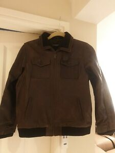 St George by Duffer Childs real leather jacket size 13 - 14 years vgc