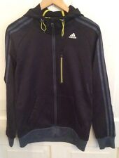 Adidas Climalite Black Hooded Jacket Men's - Size Small