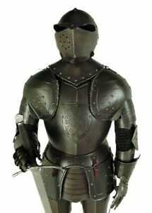 Medieval Knight Wearable Suit Of Armor Crusader Combat Full Body Armour ZA05