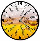 """DRINKS BEER GLASS Clock - Large 10.5"""" Wall Clock - 2053"""