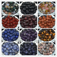 HOT Wholesale Natural Gemstone Round Spacer Loose Beads 4MM 6MM 8MM 10MM DIY