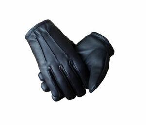 Men's Tactical Police Law Enforcement Patrol Search Duty Leather Glove Snug Fit