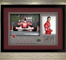 Michael Schumacher Ferrari signed autograph print photo Formula 1 Framed