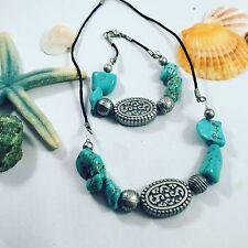 Bracelet Turquoise Silver Bliss Boho Necklace &
