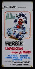 L76  LOCANDINA   DISNEY MAGGIOLINO CAR VOLKSWAGEN HERBIE MAGGIOLINO SEMPRE MATTO