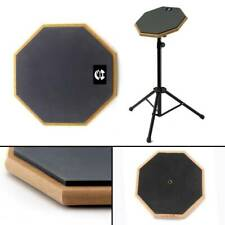 More details for 8 inch soft rubber dumb drum pad exercise mat blow plate drummer rubber gray
