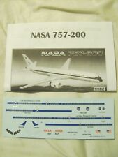 Minicraft BOEING 757-200 NASA 1/144 SCALE DECALS instructions et seulement NEUF