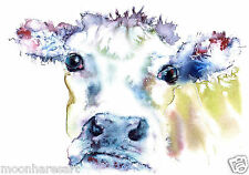 JERSEY COW PRINT FROM ORIGINAL WATERCOLOUR BY MOON HARES Art Paintings & Prints