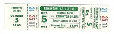 10.5.1975 WHA Hockey Houston Aeros @ Edmonton Oilers Unused Ticket