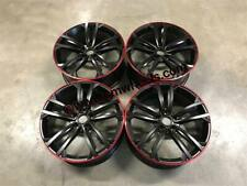 "18"" VW Seville Performance Style Wheels Satin Black Red Lip VW Golf MK5 MK6 MK7"
