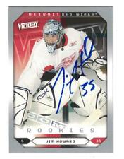 Jimmy Howard AUTOGRAPH VICTORY ROOKIE HOCKEY CARD SIGNED DETROIT RED WINGS