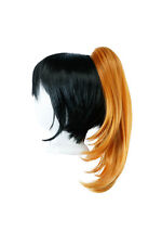 16'' Straight Pony Tail Claw Clip Wig Accessory Pumpkin Orange NEW