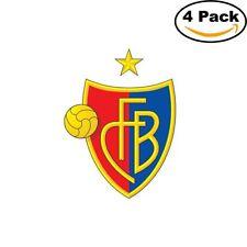 FC Basel Switzerland Soccer Club FC 4 Stickers Sticker 4X4 Inches