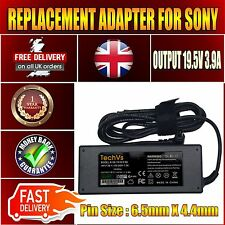 FOR SONY VAIO VPC-W112XX/W 19.5V 3.9A NEW TECHVS 75W LAPTOP ADAPTER CHARGER