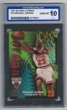 1997 Skybox Z-Force Michael Jordan #23 Graded Card ISA 10 Bulls gem mint