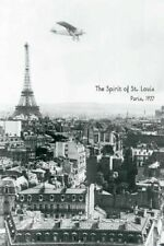 SPIRIT OF ST LOUIS ~ 1927 PARIS 24x36 POSTER Charles Lindbergh Eiffel Tower