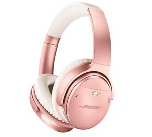 Bose QuietComfort 35 II Wireless Bluetooth Headphones Noise-Cancelling Rose Gold