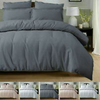 HOUSE OF WINDSOR100% Pure Cotton Duvet Cover Bedding Set With Pillowcase Waffle