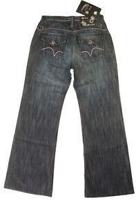 NEW Mish Mash Womens Size 28w Short Leg 30L Boyfriend Bootcut Blue Jeans