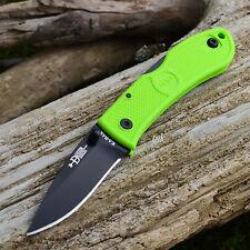 Ka-Bar Dozier Zombie Green Handle Folding Lockback Knife 4072ZG