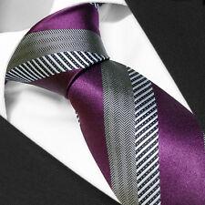 CRAVATE Homme Marque Française SOIE Gris Violet - Necktie Grey Purple Cravatte