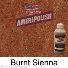 1 GL. Burnt Sienna  CONCRETE COLOR DYE 4 CEMENT, STAIN AMERIPOLISH Solvent based