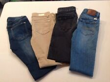 LOT OF 4 Celebrity Jeans, Lucky Brand And Tractor Jeans All Slim Fit Size 10 Gir