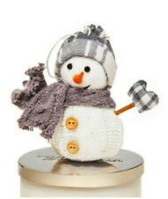 BATH & BODY WORKS 3-WICK CANDLE MAGNET GRAY SNOWMAN NEW
