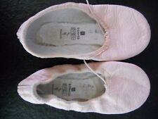 chaussons de danse demi-pointes en cuir rose P33