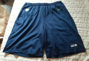 Seattle Seahawks Nike Dri Fit Shorts Authetic On Field Apparel Gently Used Med
