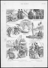 1894 ANTIQUE PRINT-PHOTO Romance Regatta semaine Illustrated Story (100)