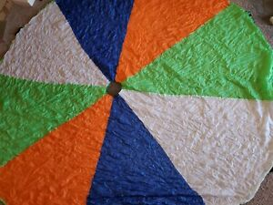 10 Foot Play Parachute with 12 Handles - Multicolored Parachute for Kids
