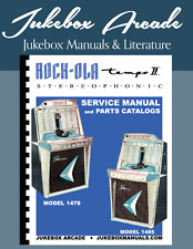NEW! Rock-Ola Model 1478  and 1485 Complete Service Manual.& Parts Catalogs