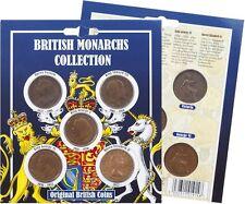 Británicas Monarchs Colección Moneda Pack,Victoria a la Reina Isabel II centavos