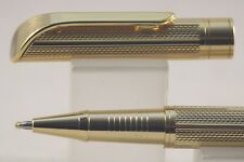 Jinhao No. 719 Chiselled Gold Plate Rollerball Pen with Gold Trim