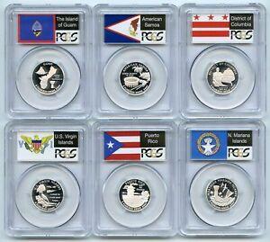 2009 S Silver Territory Quarter Set PCGS PR70DCAM