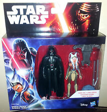 STAR WARS DARTH VADER + AHSOKA TANO THE FORCE AWAKENS ACTION FIGURE 2 PACK   NEW