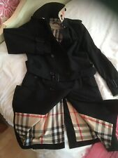 🍂BURBERRY UK16 trench coat BLACK with NOVA lining and UNDER COLLAR PRORSUM EXC